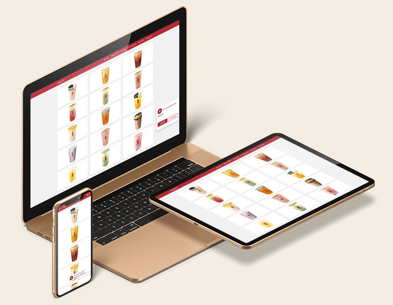 Order anytime, anywhere from desktops, tablets and smartphones