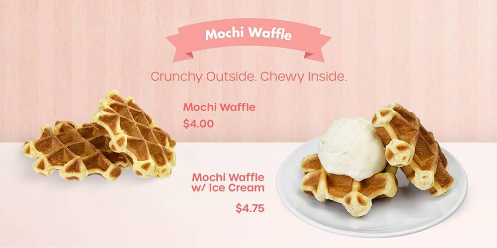 Mochi Waffle - Crunchy Outside. Chewy Inside.