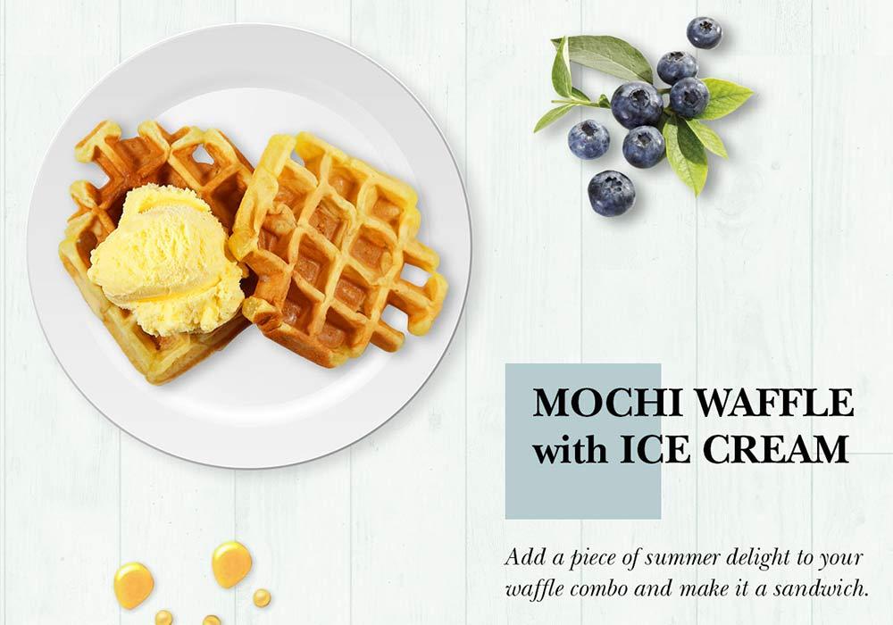 Mochi Waffle with Ice Cream