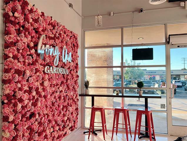 Gong cha Gardena Cafe Interior