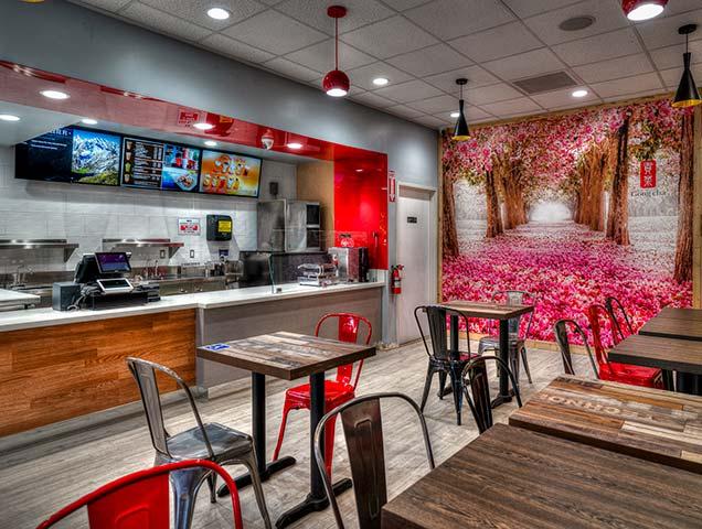 Gong cha Mira Mesa Cafe Interior