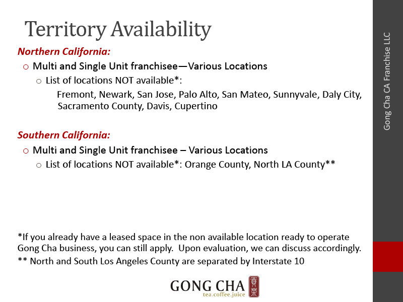 Territory Availability