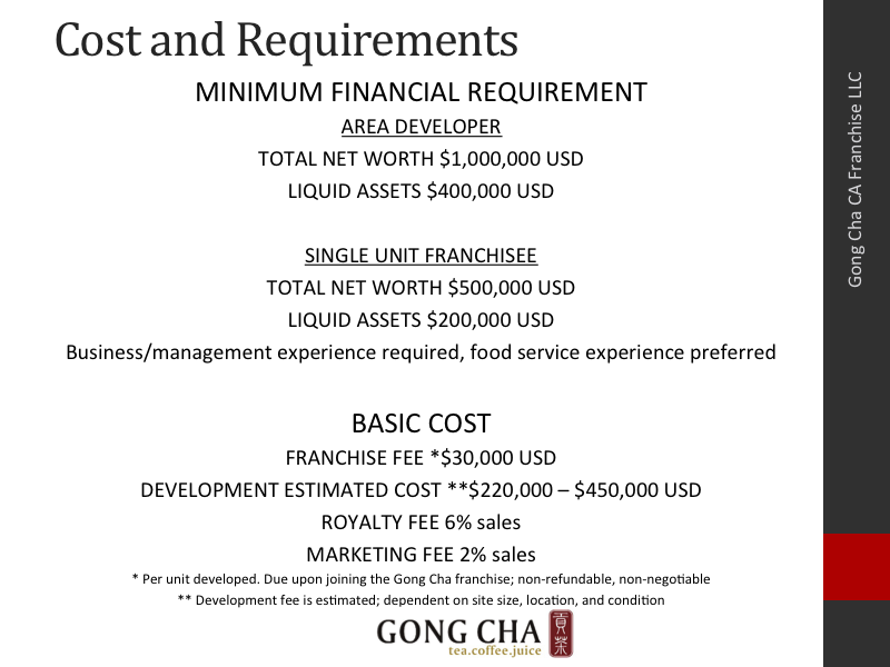 Cost and Requirements