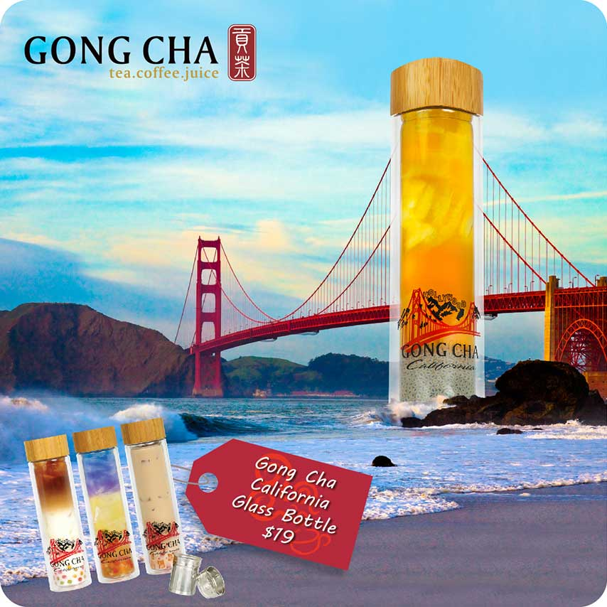Gong Cha California Glass Bottle