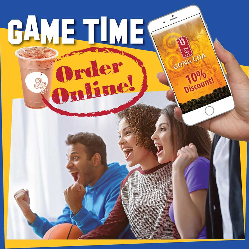 Game Time, Order Online! 10% Discount!
