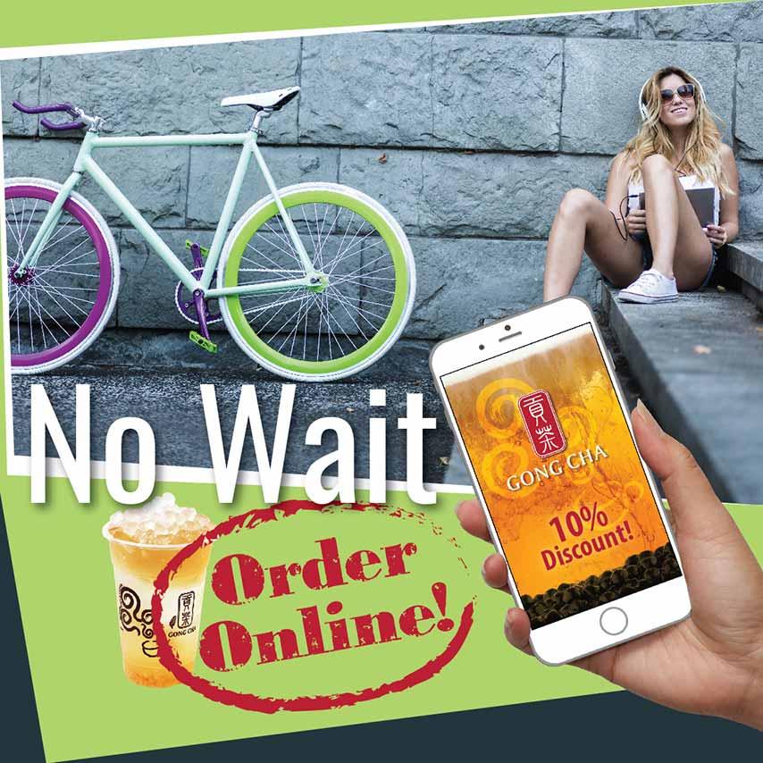 No Wait, Order Online! 10% Discount!