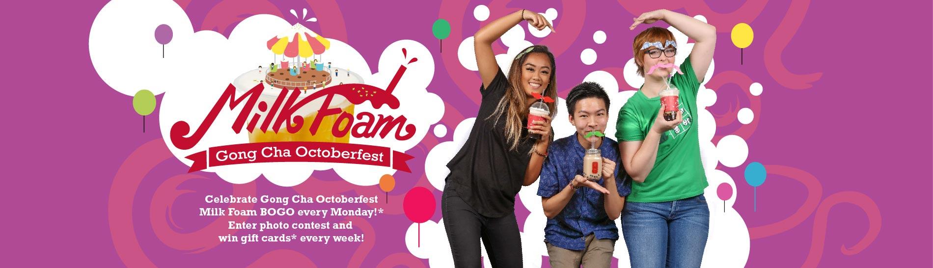 Gong Cha Octoberfest Milk Foam