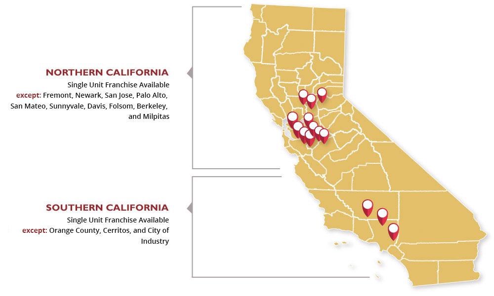 California Territory Availability